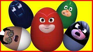 Masha with New Surprise Eggs!! PJ Masks   Маша с Киндер сюрприз и другие мультики   мультфильмы