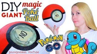 DIY GIANT Magic Poke Ball – How To Make Big Magic 8-Ball In Pokemon Go Style