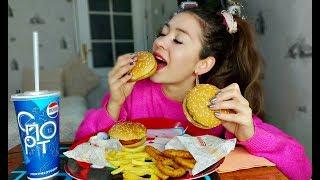 Mukbang | Мукбанг | Burger King | Бургеры,Картошка фри| Eating Show | 먹방 |не ASMR| Похудение Диеты