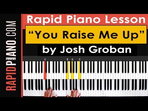 You Raise Me Up Keyboard Chords By Josh Groban Worship Chords