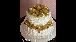 Como Fazer Rosas Douradas com Chantilly