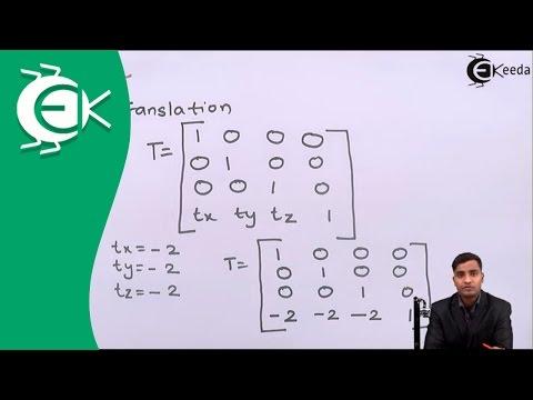 Problem No. 1 Related To 3D Transformation in Transformation |Ekeeda.com