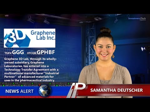 """Graphene 3D Lab (TSXV:GGG) Entered Into A Technology Transfer Agreement With """"Industrial Partner"""""""