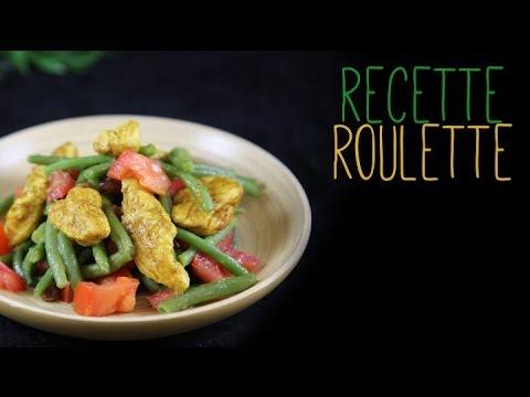 Salade de poulet au curry et haricots verts !
