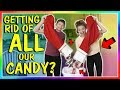 watch he video of GETTING RID OF ALL OUR CANDY!😱| We Are The Davises