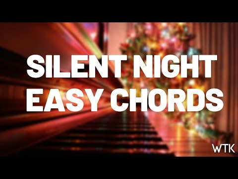 Easy Piano Chords for Silent Night Christmas Song
