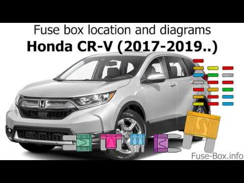 Fuse Box Location And Diagrams Honda Cr V 2017 2019 Youtube