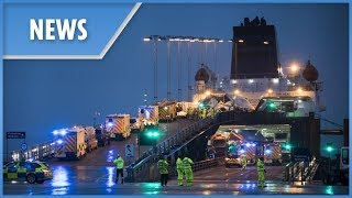 Major incident on Scottish P&O ferry after six lorries topple over