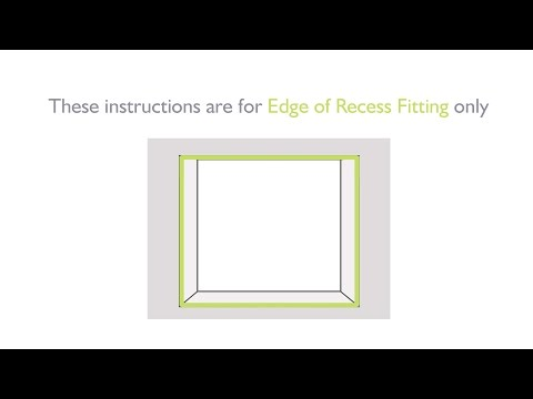 How to measure for Total Blackout Roller Blinds - Edge of Recess Fitting