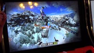 My Brother Playing Winter X Games Snocross In The Arcade