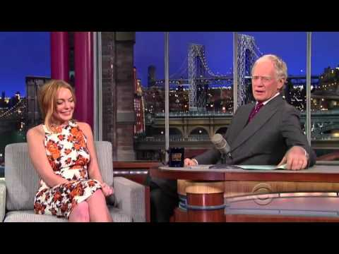 Late Show with David Letterman and Lindsay Lohan  (2013) (Full Interview HD)