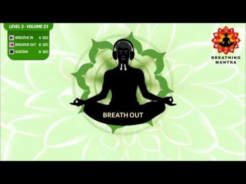 Guided Breathing Mantra (4-8-8) Pranayama Yoga Breathing Exercise Level 3 Vol 23