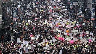 Женский марш на Вашингтон   500 тысяч   против Дональда Трампа