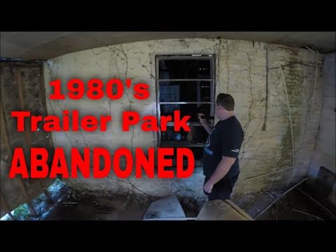 Creepy Abandoned trailer park deep in the woods, untouched for decades rumored to be haunted
