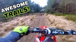 One of the BEST places to ride your Dirt Bike | RAW 450 Trail Bashing