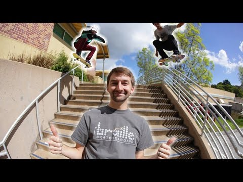 BRAILLE GOES STREET SKATING!