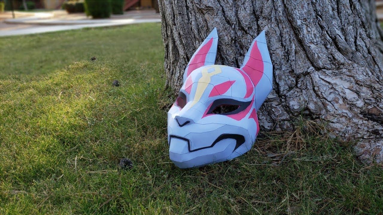 Fortnite Papercraft Life Size Drift Mask Tutorial Youtube