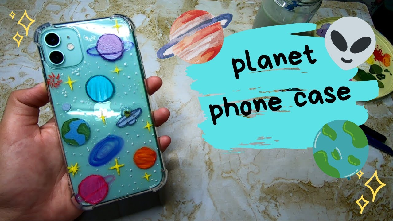 Painting My Iphone Case Planets Galaxy Clear Case Acrylic