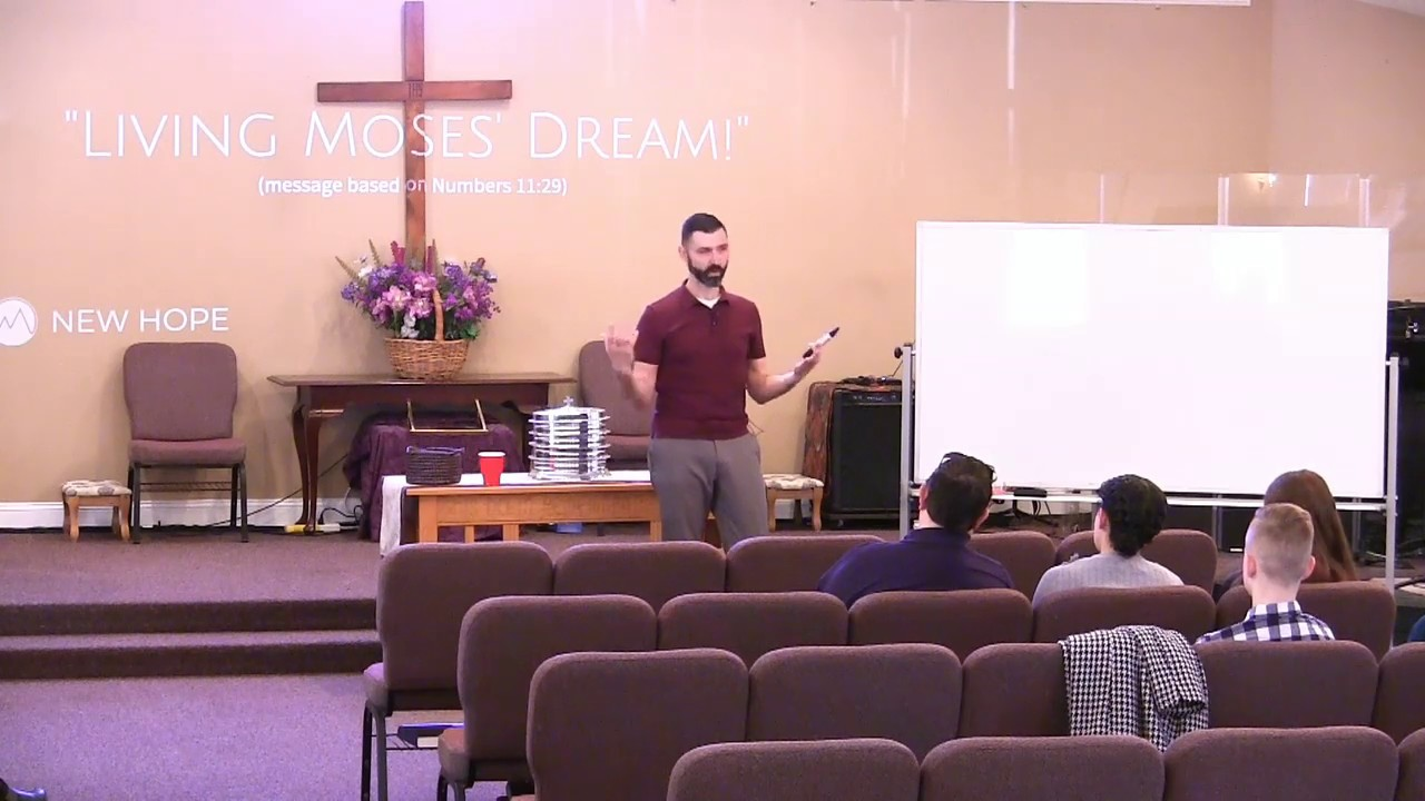 """""""Living Moses' Dream"""" (Numbers 11:29 sermon from New Hope Christian Chapel)"""