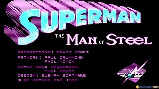 Superman gameplay (PC Game, 1989)
