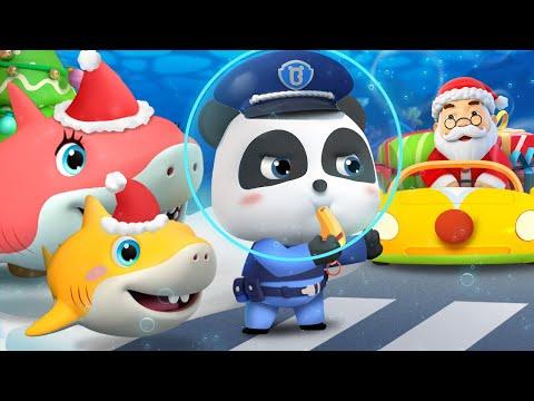 Baby Panda Traffic Police | Traffic Jam on Christmas Eve | Christmas Song | BabyBus