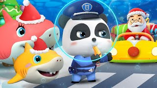 Baby Panda Traffic Police | Traffic Jam on Christmas Eve | Christmas Song | BabyBus