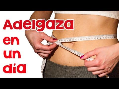 Cómo bajar de peso en un día | APERDERPESO.COM