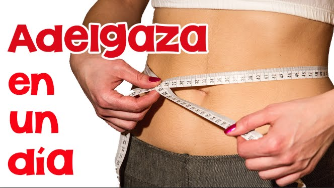 como bajar de peso en 2 dias urgentemente