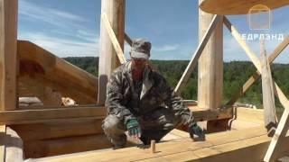 Уроки рубки каркасно - бревенчатых домов. Технология установки столбов.