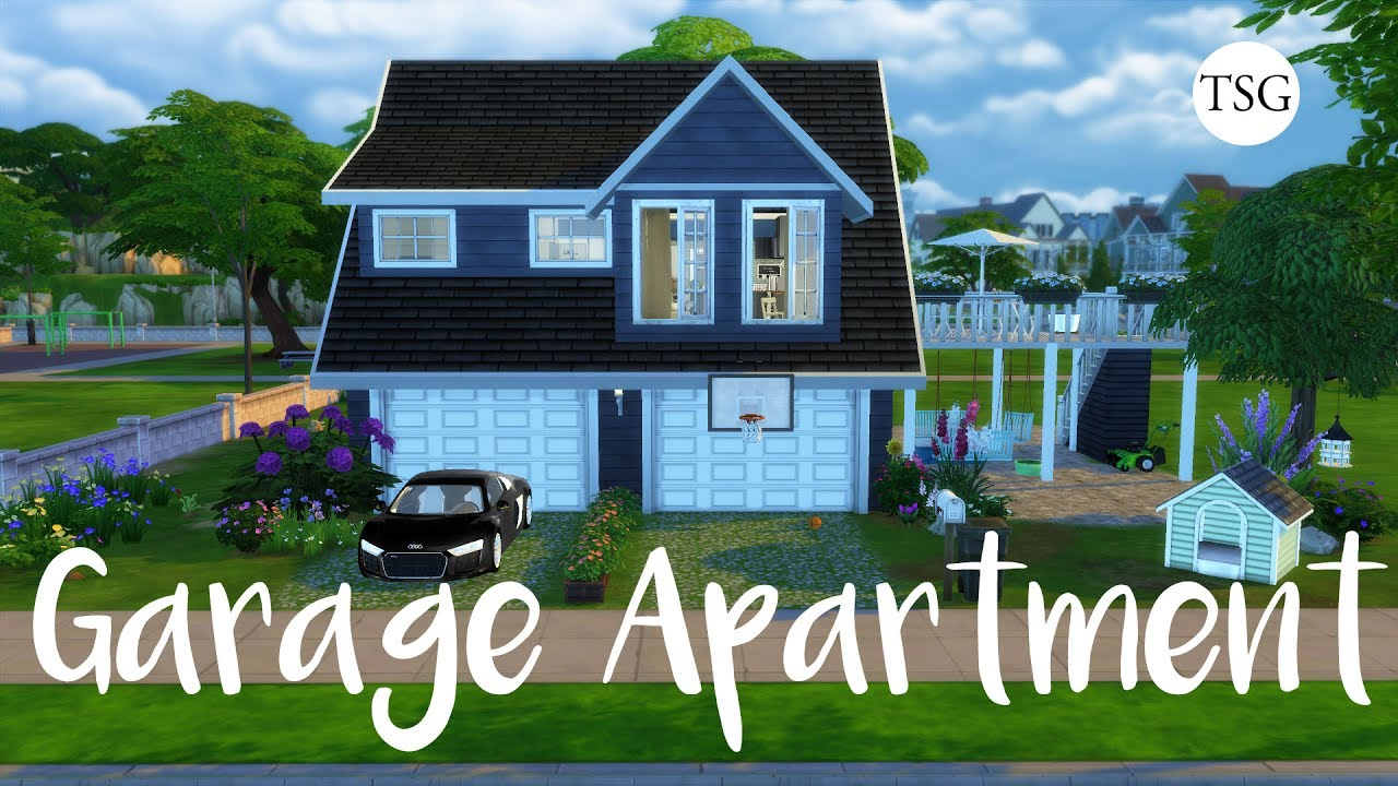 The Sims 4: Garage Apartment - CC Speed Build - YouTube