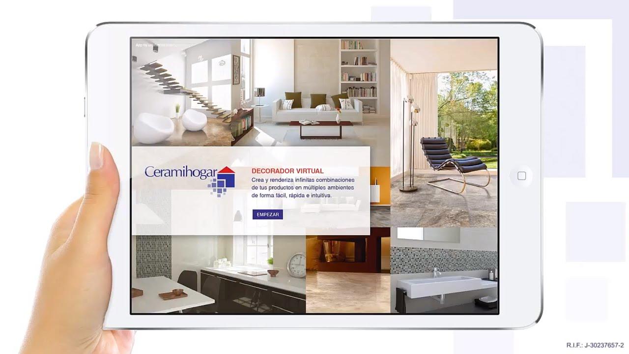 Nueva app decorador virtual de ceramihogar youtube for Decorador virtual gratis