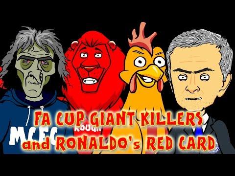 ☕️FA CUP GIANT KILLERS☕️ RONALDO RED CARD (Man City vs Middlesbrough Chelsea FC vs Bradford City)
