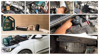 Hyundai i20 elite service at home with all details   do it yourself