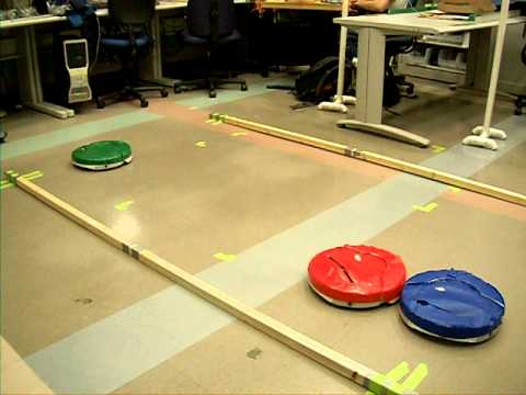 Autonomous Pong using iRobot Create 2