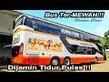 Bus Ter-MEWAH !! Seperti Naik PESAWAT || Trip Bus Harapan Jaya LEGACY SR2 Double Decker