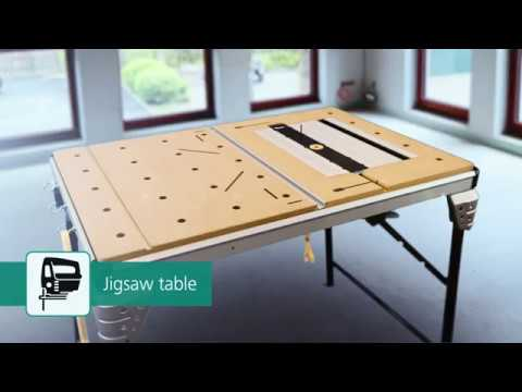 wolfcraft precision saw table and work station master cut 2500 part no 6902000 youtube. Black Bedroom Furniture Sets. Home Design Ideas