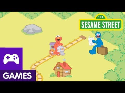 Sesame Street: Elmo and Grover are Train Track Engineers | Game Video
