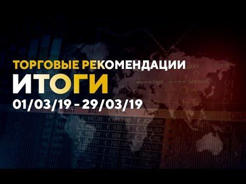 Итоги торговых рекомендаций 01/03/19 - 29/03/19