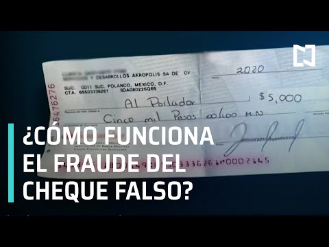 Fraude del cheque falso | Estafa con cheque falso - Las Noticias