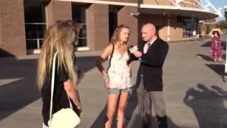 Ari on OKC tv at American Idol auditions