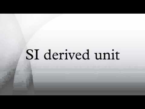 SI derived unit