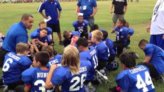 Youth Coach Gives Inspirational Half Time Speech To 2-5 Team . Team Comes Out and Wins!!