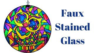 Faux Stained Glass DIY Using Food Coloring And Mod Podge