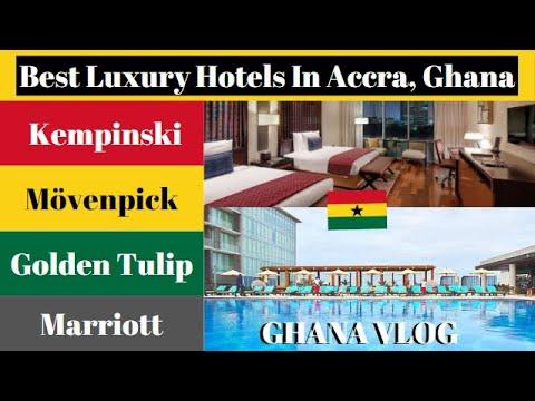 Ghana Vlog | Best Luxury Hotels In Accra Ghana: Kempinski, Movenpick, Golden Tulip & Marriott | Gh