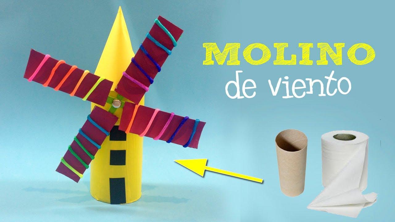 Molino de viento casero | Manualidades con reciclaje - YouTube