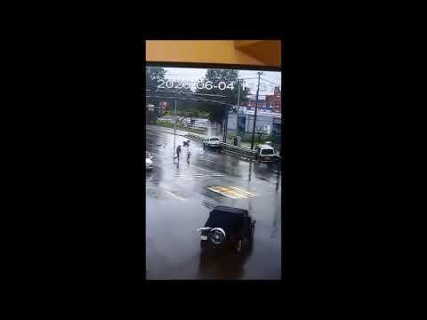 Безумная авария на улице Павла Морозова в Хабаровске