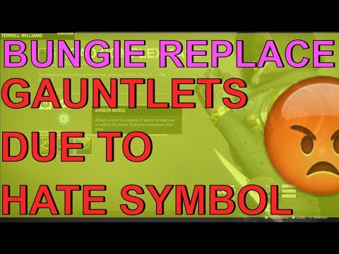 DESTINY 2 - BUNGIE REPLACE KEK ROAD COMPLEX AA1 GAUNTLETS / REPLACED DUE TO HATE SYMBOL IN GAME