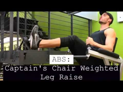 Abs Captians Chair Weighted Leg Raise