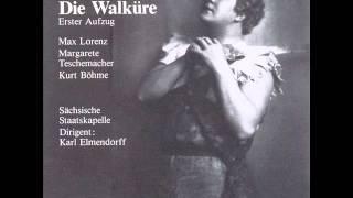 Wagner - Walküre 1. Akt - Lorenz - Teschemacher - Böhme - Elmendorff 1944