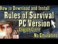 How to Download and Play Rules of Survival PC Version on Windows (English)